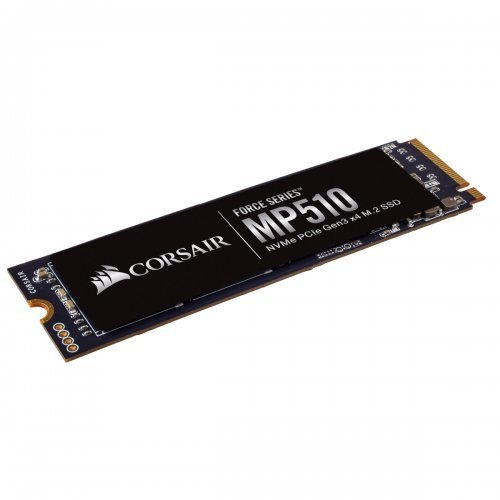 SSD Corsair 480GB, Force MP510 series NVMe, PCIe Gen 3.0 x4 (PCIe Slot) M.2 2280, 3D TLC NAND Up to 3,480MB/s Sequential Read, Up to 2,000MB/s (снимка 1)