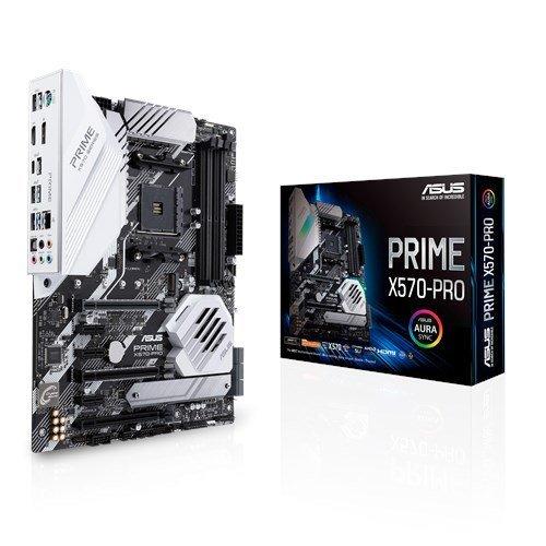 Дънна платка Asus PRIME X570-PRO, s. AM4, AMD X570, PCI-E 4.0, пълна подръжка на 3-то поколение(3XXX) AMD Ryzen процесори (снимка 1)