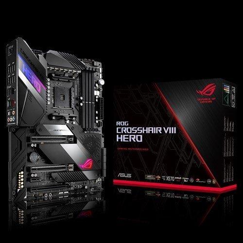 Дънна платка Asus ROG CROSSHAIR VIII HERO, s.AM4, AMD X570, PCI-E 4.0, пълна подръжка на 3-то поколение(3XXX) AMD Ryzen процесори (снимка 1)
