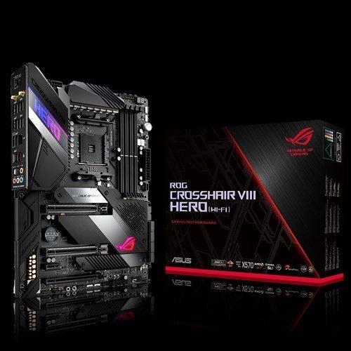 Дънна платка Asus ROG CROSSHAIR VIII HERO WiFi, s. AM4, AMD X570, PCI-E 4.0, пълна подръжка на 3-то поколение(3XXX) AMD Ryzen процесори (снимка 1)