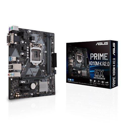 Дънна платка Asus PRIME H310M-K R2.0, s.1151, Intel H310, 2x DDR4 (снимка 1)