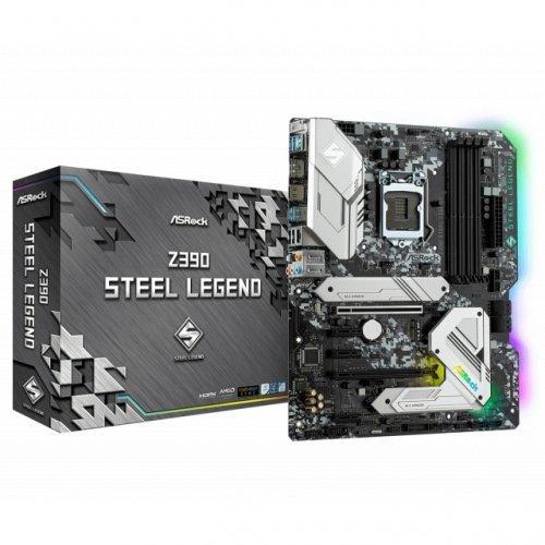 Дънна платка ASROCK Z390 Steel Legend, s. 1151 (снимка 1)