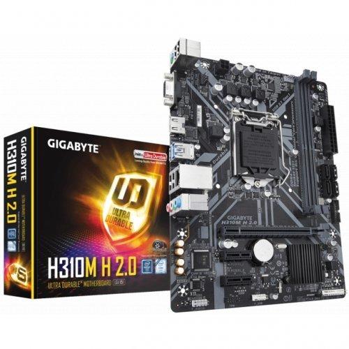 Дънна платка GIGABYTE H310M-H 2.0, s. 1151, 2 x DDR4 (снимка 1)