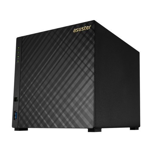 "NAS устройство Asustor AS3204T, 4-bay NAS, Intel Celeron Quad-Core J3160 ( up to 2.24GHz, 2MB), 2GB DDR3L(non-upgradeable), 4 x 3.5"" SATAII / SATAIII, GbE x 1, USB 3.0 - 1*Front/2*Rear, HDMI 1.4b, 16 Channel IP Cam(4 license included), WoL, System Sleep Mode, Tower (снимка 1)"