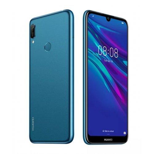 "Смартфон Huawei Y6 2019, Mrd-L21A, 6.09"", 1560x720, MTK MT6761 4xA53 2.0GHz, 2GB+32GB, 13MP/8MP, BT, WiFi 802.11 b/g/n, Android 9.0, Sapphire Blue (снимка 1)"
