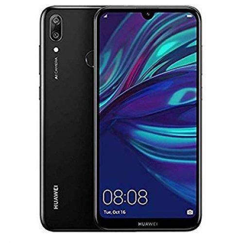 """Смартфон Huawei Y7 2019, Dub-L21, 6.26"""",IPS,1520x720, Qualcomm Snapdragon 450 8xCortex A53 1.8GHz, 3+32GB, 13MP+2MP/8MP, BT, WiFi 802.11 b/g/n, Android 8.0, Midnight Black (снимка 1)"""