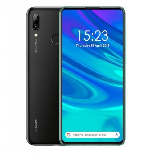 Смартфон Huawei P Smart Z Midnight Black, Stark-L21A, 6.59' HUAWEI Ultra FullView, Kirin 710F, Octa Core 4*2.2GHz+4*1.7GHz, 4GB+64GB, 4G LTE, 16M+2M, F1.8/16M, F2.2, Auto Pop-Up Selfie Camera, BT, FRP, WiFi 802.11ac, Android 9 +EMUI 9.0 (снимка 1)
