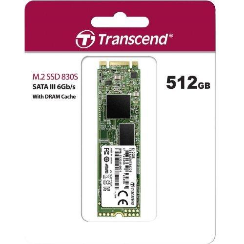 SSD Transcend 512GB, M.2 2280 SSD, SATA3 B+M Key, TLC (снимка 1)