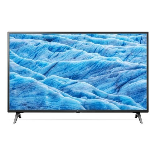 Телевизор LG 49UM7100PLB, UHD, DLED, DVB-C/T2/S2, Wide Viewing Angle, 4K Active HDR, ThinQ AI, webOS Smart TV, Built-in Wi-Fi, Bluetooth, Two Pole Stand, Ceramic Black (снимка 1)