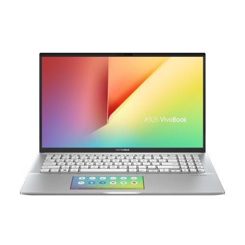 """Лаптоп Asus VivoBook S15 S532FL-BQ069T ScreenPad, ScreenPad, сребрист, 15.6"""" (39.62см.) 1920x1080 (Full HD) без отблясъци, Процесор Intel Core i5-8265U (4x/8x), Видео nVidia GeForce MX250/ 2GB GDDR5, 8GB DDR4 RAM, 512GB SSD диск, без опт. у-во, Windows 10 64 ОС, Клавиатура- светеща с БДС (снимка 1)"""