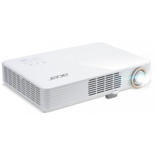 Дигитален проектор Acer Projector PD1520i, LED,1080p (1920x1080), 3000 ANSI Lm, 1000000:1, HDMI/MHL, VGA in, PC Audio, DC out(5V/1A USB Type A), USB Type A included wireless dongle, 360-degree projection, Slim and Compact 2.2kg, White (снимка 1)