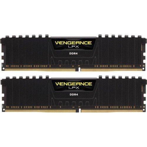 RAM памет DDR4 Kit 2x 8GB 3200MHz, Corsair, Vengeance LPX Black Heat spreader, 16-18-18-36, 288 DIMM, Unbuffered, 1.35V, XMP 2.0 (снимка 1)