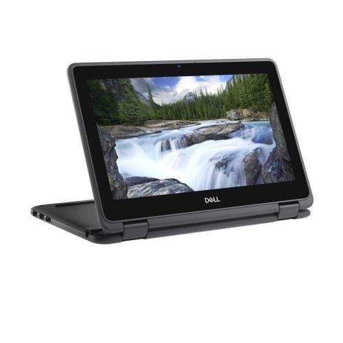 "Лаптоп Dell Latitude 11 3190, черен, 11.6"" (29.46см.) 1366x768 (HD) лъскав, Процесор Intel Celeron Quad-Core N4100, Видео интегрирана, 4GB LPDDR4 RAM, 64GB eMMC диск, без опт. у-во, Windows 10 Pro 64 ОС (снимка 1)"