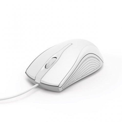 Мишка HAMA MC-200, кабел 1.5 м, USB, 1200 dpi, 3 бутона, Бял, Оптична мишка  (снимка 1)