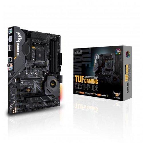 Дънна платка ASUS TUF GAMING X570-PLUS socket AM4, 4xDDR4, Aura Sync, PCIe 4.0 (снимка 1)