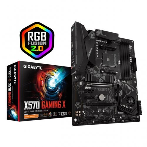 Дънна платка GIGABYTE X570 GAMING X Socket AM4, RGB Rusion, PCIe 4.0 (снимка 1)
