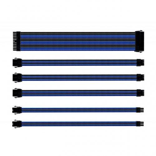 Кабел Комплект оплетени кабели Cooler Master Black & Blue (снимка 1)