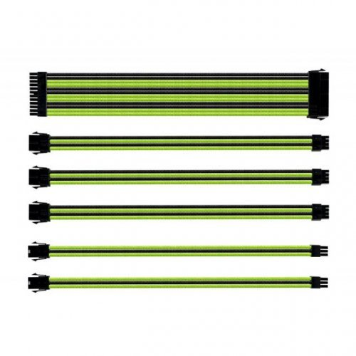 Кабел Комплект оплетени кабели Cooler Master Green & Black (снимка 1)