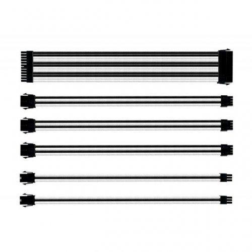 Кабел Комплект оплетени кабели Cooler Master White & Black (снимка 1)