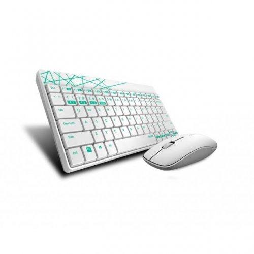 Клавиатура RAPOO 8000M Multi mode, Bluetooth &2.4Ghz, Безжичен, Бял, Комплект клавиатура и мишка (снимка 1)