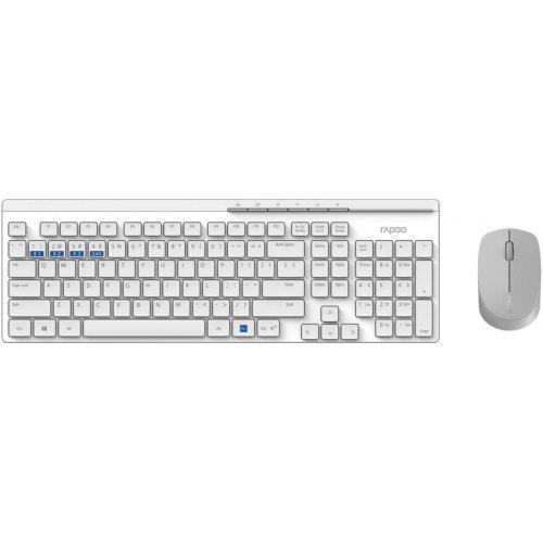 Клавиатура RAPOO 8100M Multi mode, Bluetooth &2.4Ghz, Безжичен, Бял, Комплект клавиатура и мишка (снимка 1)