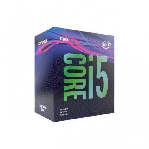Процесор Intel Coffee Lake Core i5-9500F, s. LGA1151, 6x/6x, 3.0GHz (up to 4.40GHz ), L3 Cashe- 9MB, 65W, no GPU, Box (снимка 1)