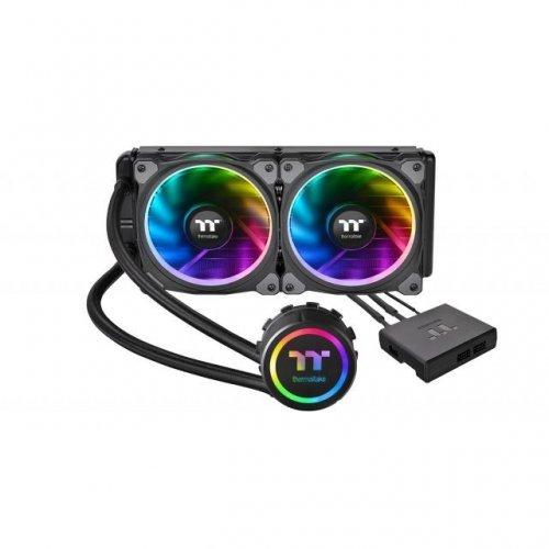Охлаждане THERMALTAKE Floe Riing RGB 240 TT Premium Edition, течно охлаждане, Intel/AMD (снимка 1)