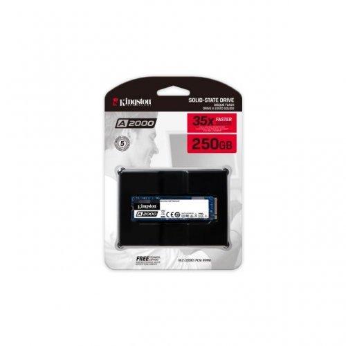 SSD KINGSTON 250GB A2000 M.2-2280 PCIe Nvme  (снимка 1)