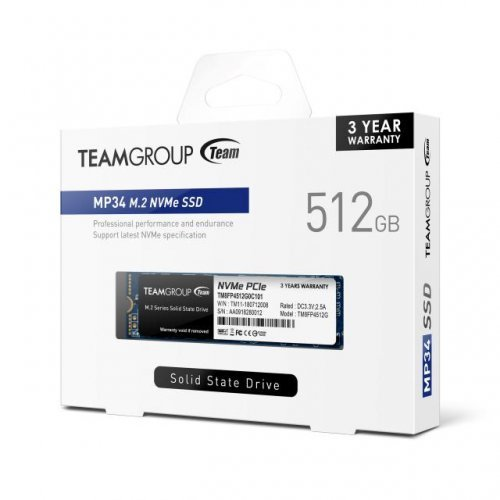 SSD Team Group 512GB MP34 M.2 2280 PCI-e 3.0 x4 NVMe (снимка 1)