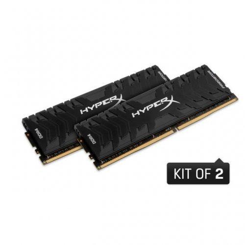 RAM памет DDR4 16GB Kit 2x8GB 3600MHz , Kingston HyperX Predator, PC4-28800, CL17, HX436C17PB4K2/16 (снимка 1)