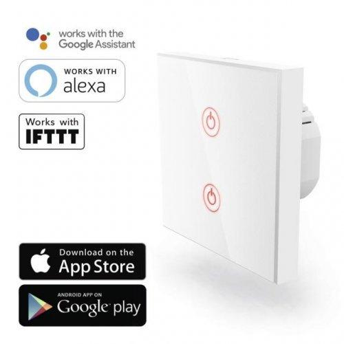HAMA 176551, Amazon Alexa, Google Home, Бял, Wi-Fi ключ за стена  (снимка 1)