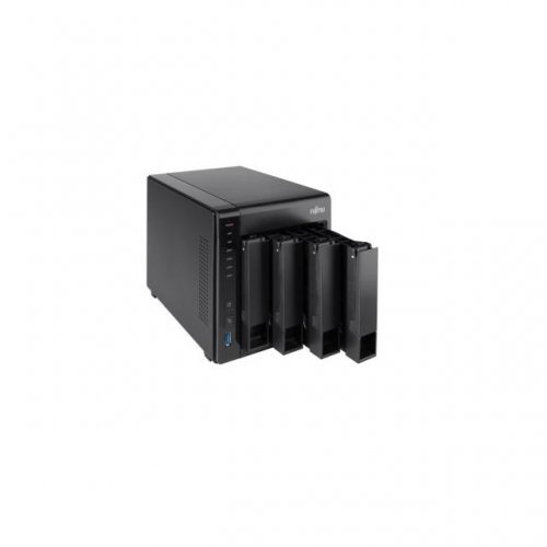 NAS устройство Fujitsu CELVIN NAS QE807, 4 x 2 TB HDD,  до 4 х 6TB HDD/SSD (снимка 1)