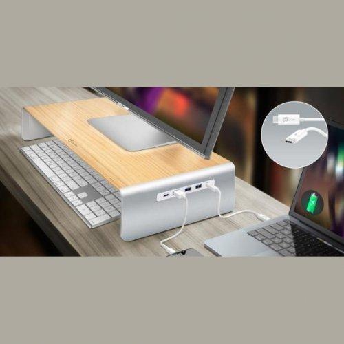 Заключващо устройство за лаптоп j5create JCT425 8 в 1  USB Type-C/PD/4K HDMI/ 6-Port USB 3.0, Поставка за монитор   (снимка 1)