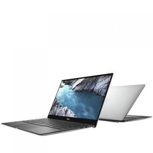 "Лаптоп Dell XPS 13 9380, сребрист и черен отвътре, 13.3"" (33.78см.) 3840x2160 (4K Ultra HD) 60Hz IPS, Процесор Intel Core i7-8565U (4x/8x), Видео Intel UHD 620, 16GB LPDDR3 RAM, 512GB SSD диск, без опт. у-во, Windows 10 Pro 64 ОС, Клавиатура- светеща (снимка 1)"