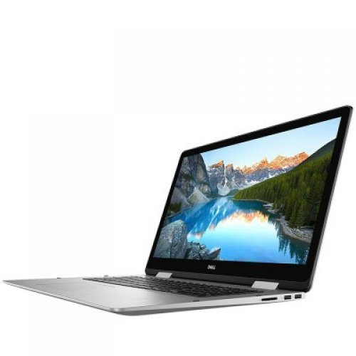 "Лаптоп Dell Inspiron 17 7786, сребрист, 17.3"" (43.94см.) 1920x1080 (Full HD), Процесор Intel Core i7-8565U (4x/8x), Видео nVidia GeForce MX250/ 2GB GDDR5, 16GB DDR4 RAM, 1TB HDD + 128GB SSD диск, без опт. у-во, Windows 10 Pro 64 ОС, Клавиатура- светеща (снимка 1)"
