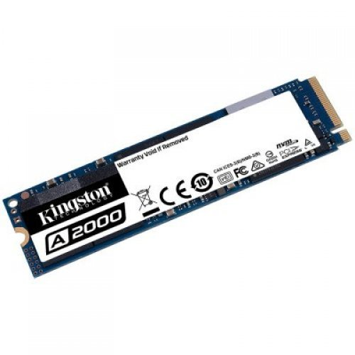 SSD KINGSTON 500GB A2000, M.2 2280, NVMe, Read/Write: 2200 / 2000 MB/s, Random Read/Write IOPS 180K/200K (снимка 1)