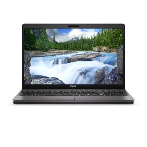"""Лаптоп Dell Latitude 15 5500, черен, 15.6"""" (39.62см.) 1920x1080 (Full HD) без отблясъци, Процесор Intel Core i5-8265U (4x/8x), Видео Intel UHD 620, 8GB DDR4 RAM, 256GB SSD диск, без опт. у-во, Windows 10 Pro 64 ОС, Клавиатура- светеща (снимка 1)"""