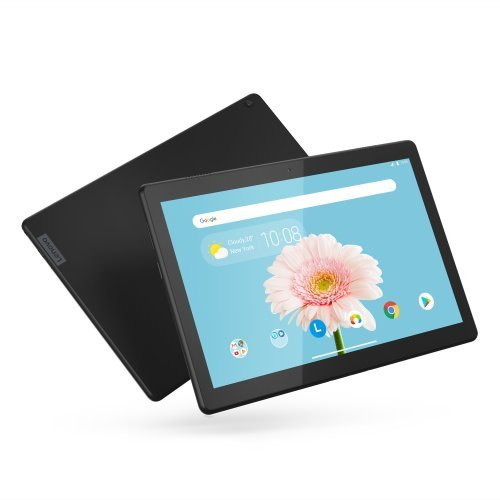 "Таблет Lenovo Tab M10 4G WiFi GPS BT4.2, Qualcomm 2.0GHz QuadCore, 10.1"" IPS 1280x800, 2GB DDR3, 32GB flash, 5MP cam + 2MP front, Nano SIM, MicroSD up to 256GB, USB-C, dedicated docking/charging port, Android 9 Pie, Dolby Atmos, Slate Black (снимка 1)"