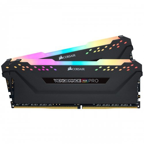 RAM памет DDR4 PC KIT 32GB 2x16GB 3000Mhz, Corsair, 288 DIMM, Unbuffered, 15-17-17-35, Vengeance RGB PRO black Heat spreader,RGB LED, 1.35V, XMP 2.0 (снимка 1)
