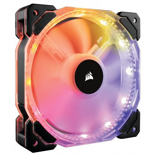 Охлаждане Corsair HD120 RGB Individually Addressable LED, 3-Pack Static Pressure Fan with Controller, Вентилатор за кутия (снимка 1)