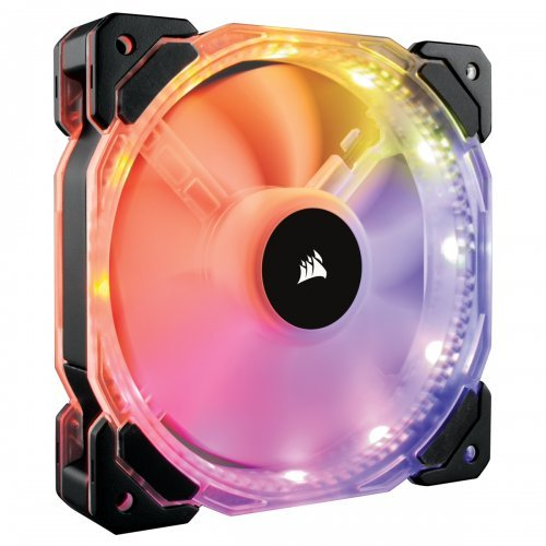 Охлаждане Corsair HD140 RGB LED High Performance, 140mm PWM, Twin Pack static pressure Fan with Controller, Вентилатор за кутия (снимка 1)