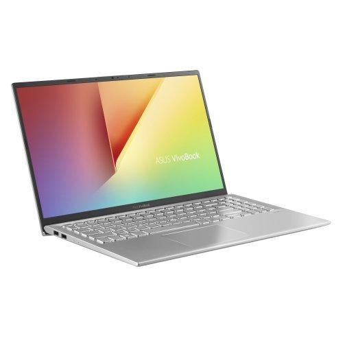 "Лаптоп Asus VivoBook15 X512DA-EJ389, Ultra Slim, AMD Ryzen 7 3700U (up to 4.0GHz, 4MB), 15.6"" FHD (1920x1080)AG, 8GB DDR4(4GB on board), HDD 512G PCIE, Radeon Vega 10 Graphics, Linux,Transperent Silver (снимка 1)"