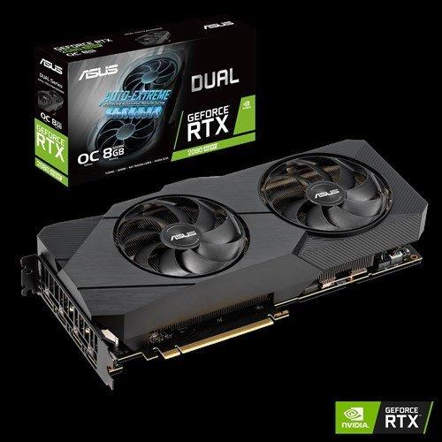 Видео карта nVidia ASUS DUAL-RTX2080S-O8G-EVO, Dual GeForce RTX 2080 SUPER EVO OC edition, 8GB GDDR6 (снимка 1)
