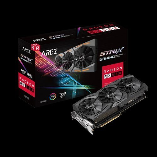 Видео карта AMD ASUS AREZ Strix Radeon RX 580 TOP edition 8GB GDDR5 with Aura Sync RGB for best VR & 4K gaming (снимка 1)