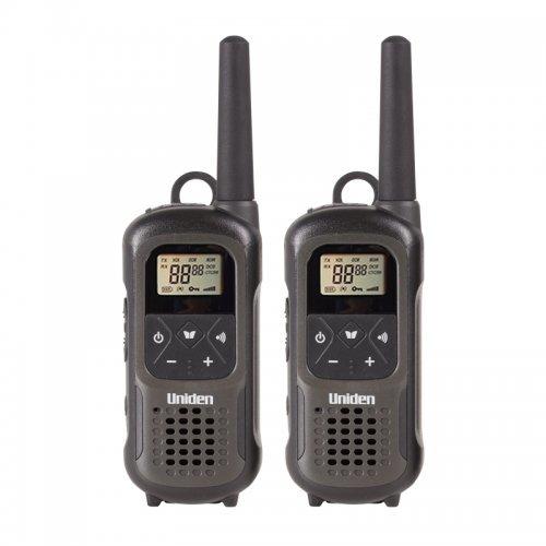 """Радиостанция Uniden PMR1210-2, водоустойчива(IPX7), обхват до 10 км., 8 канала за връзка, 121 частни кода, 15 мелодии, осветен LCD дисплей, LED фенерче, Вибрация, функцията """"Тон разбрано"""", режим """"VOX""""(за слушалки с микрофон) (снимка 1)"""