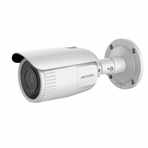 IP камера HikVision DS-2CD1643G0-IZ; корпусна IP камера Ден/Нощ с вградено IR осветление с обхват до 30 м; 4.0 MP (2560x1440@20 кад/сек; 1920x1440@25 кад/сек); 0.01 Lux (0 Lux IR on); моторизиран варифокален обектив 2.8~12 мм (хоризонтален ъгъл 98°~28°); механичен IR филтър; 120dB WDR; 3D DNR шумов филтър; H.265+; слот за micro SDXC карта (до 128GB); метален корпус за външен монтаж (IP67) -30~60C; вградена гръмозащита (TVS2000V); 12Vdc/PoE 12.9W (снимка 1)