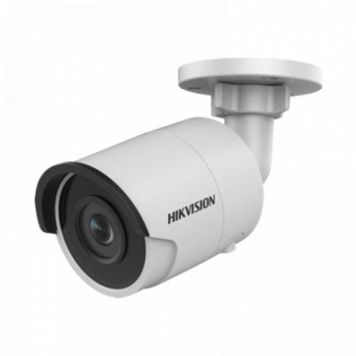 IP камера HikVision DS-2CD2063G0-I; IP камера Ден/Нощ, EXIR технология с обхват до 30м; 6.0 MP (3072x2048@20 кад/сек); фиксиран обектив 4 мм; механичен IR филтър; 3D DNR шумов филтър; 120dB WDR; H.265+; слот за micro SDXC карта (до 128GB); за външен монтаж (IP67); PoE (снимка 1)