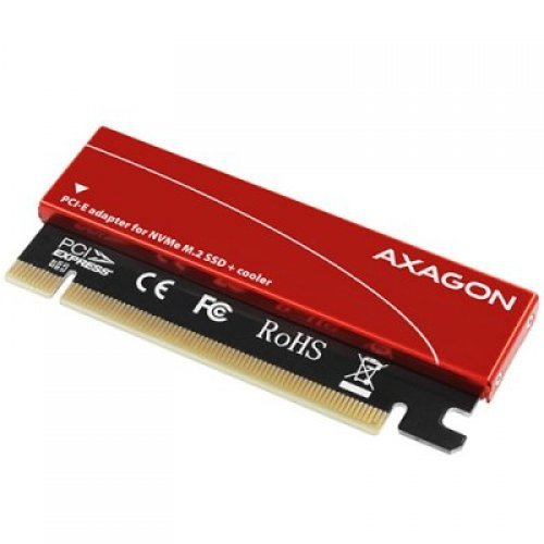 I/O модул PCEM2-S PCI-E 3.0 16x - M.2 SSD NVMe, up to 80mm SSD, low profile, cooler (снимка 1)