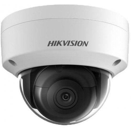 IP камера HikVision DS-2CD2185FWD-IS; 4K UltraHD куполна IP камера Ден/Нощ, EXIR технология с обхват до 30м; 8.0 MP (3840x2160@20 кад/сек; 2560x1920@25 кад/сек); фиксиран обектив 2.8 мм; механичен IR филтър; 3D DNR шумов филтър; 120dB WDR; H.265+; ROI; слот за micro SDXC карта (до 128GB); вандалоустойчива (IK10); метален корпус за външен монтаж (IP67); 12Vdc/PoE 8.5W (снимка 1)