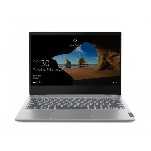 "Лаптоп Lenovo ThinkBook 13s, сив, 13.3"" (33.78см.) 1920x1080 (Full HD) без отблясъци IPS, Процесор Intel Core i7-8565U (4x/8x), Видео Intel UHD 620, 8GB DDR4 RAM, 256GB SSD диск, без опт. у-во, Windows 10 Pro 64 ОС, Клавиатура- с БДС (снимка 1)"